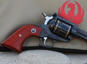 Closeup of SBH grip and barrel